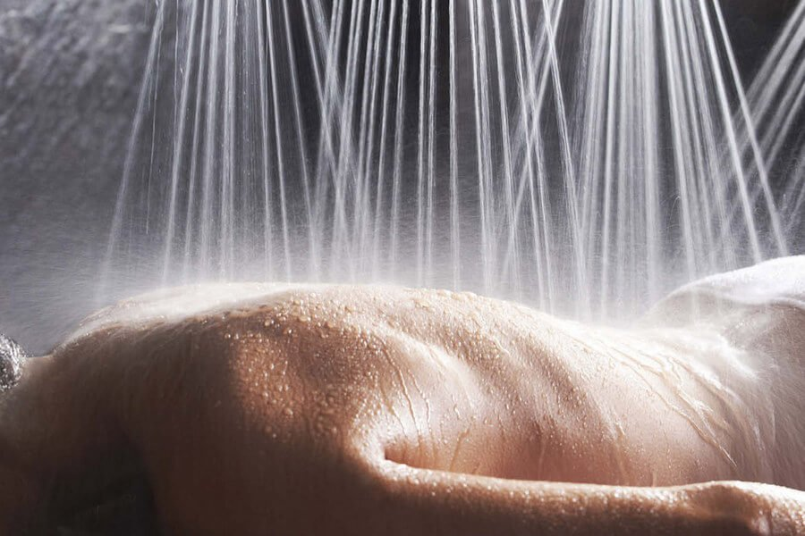 Hydroterapia, okrągły prysznic – wyświetlacze, efekty